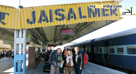 hire rental car cab and taxi for jaisalmer railway station